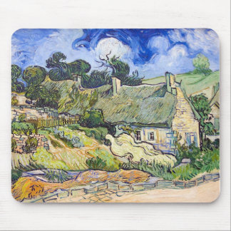 Vincent Van Gogh - Cottages with Thatched Roofs Mouse Pad