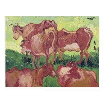 Vincent van Gogh | Cows, 1890 Postcard