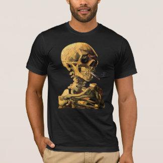 Vincent van Gogh - cráneo con el cigarrillo Playera