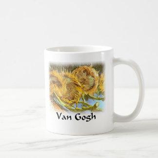 Vincent Van Gogh - Cut Sunflowers (Detail) Coffee Mug