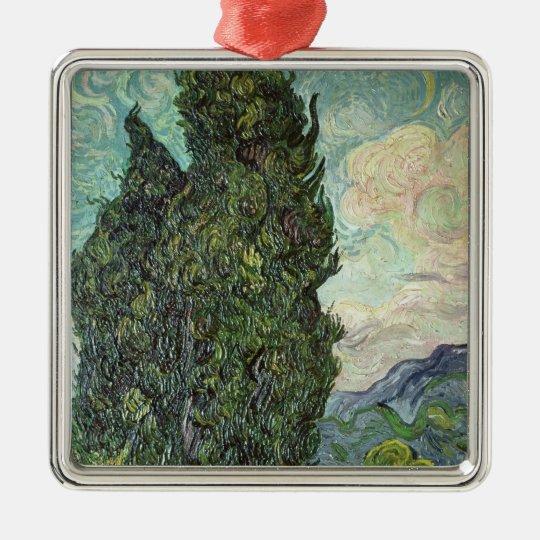 Vincent van Gogh   Cypresses, 1889 Metal Ornament