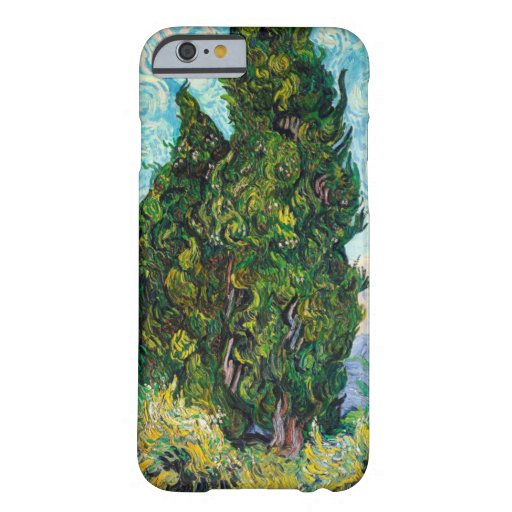 Vincent Van Gogh Cypresses Fine Art Barely There iPhone 6 Case