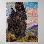 Vincent Van Gogh - Cypresses Fine Art Tree Lover Poster
