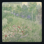 "Vincent van Gogh | Daubigny&#39;s garden, 1890 Stone Coaster<br><div class=""desc"">Daubigny&#39;s garden,  1890 