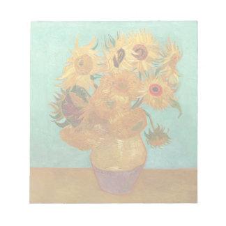 Vincent van Gogh doce girasoles en un florero Blocs
