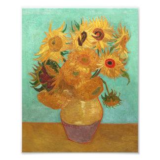 Vincent van Gogh doce girasoles en un florero Fotografía