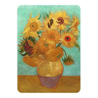 Vincent van Gogh doce girasoles en un florero Invitación 11,4 X 15,8 Cm
