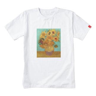 Vincent van Gogh doce girasoles en un florero Playera Zazzle HEART