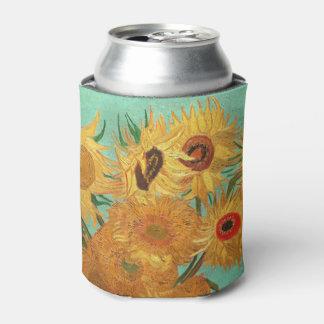 Vincent van Gogh doce girasoles en un florero Enfriador De Latas