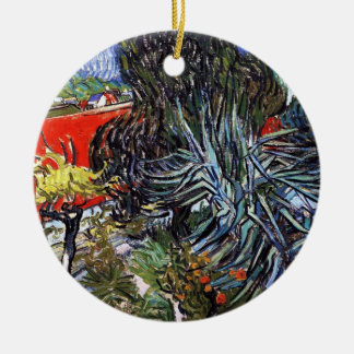 Vincent Van Gogh - Doctor Gachets Garden In Auvers Ceramic Ornament