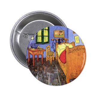 Vincent van Gogh - dormitorio en bella arte de Pin Redondo De 2 Pulgadas