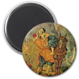 Vincent van Gogh - el buen samaritano Imán Redondo 5 Cm