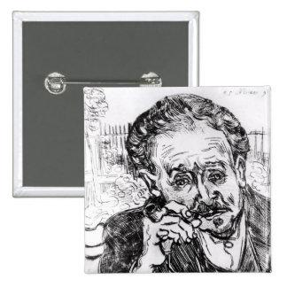 Vincent van Gogh el | el hombre con el tubo Pin Cuadrado