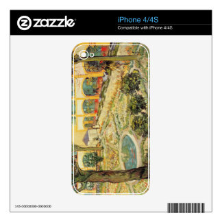 Vincent van Gogh el   el jardín del asilo en Arles Calcomanías Para iPhone 4S