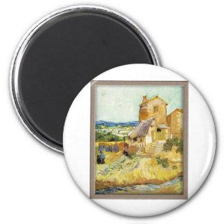 Vincent van Gogh el imán viejo del refrigerador de