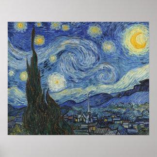 Vincent van Gogh el | la noche estrellada, junio Póster