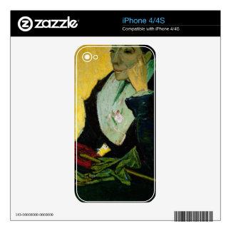 Vincent van Gogh el   L'Arlesienne, detalle, 1888 iPhone 4S Calcomanía