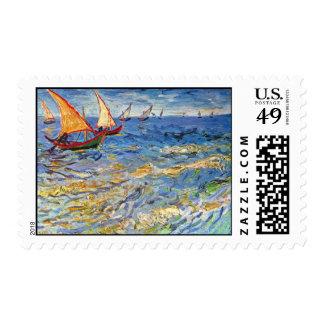 Vincent van Gogh - el mar en Saintes Maries Sellos