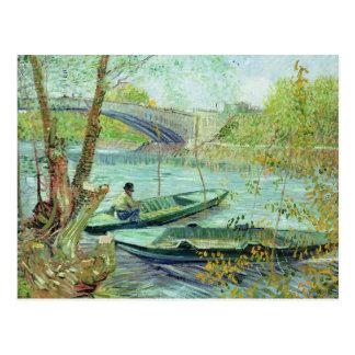 Vincent van Gogh el | que pesca en la primavera Tarjetas Postales