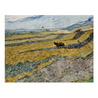 Vincent van Gogh - Enclosed Field with Ploughman Postcard