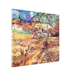 Vincent Van Gogh - Enclosed Wheat Field Fine Art Canvas Print