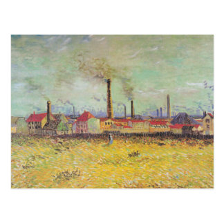Vincent van Gogh - fábricas en Asnieres Postales