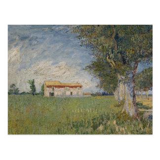 Vincent van Gogh - Farmhouse in a Wheat Field Postcard