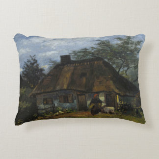 Vincent van Gogh - Farmhouse in Nuenen Accent Pillow