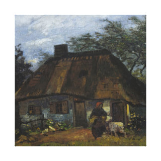 Vincent Van Gogh Farmhouse In Nuenen Canvas Print