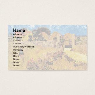 Vincent Van Gogh - Farmhouse In Provence Fine Art Business Card
