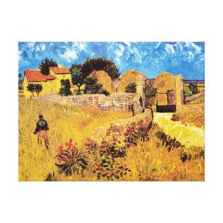 Vincent Van Gogh - Farmhouse In Provence Fine Art Canvas Print