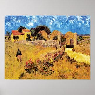 Vincent Van Gogh - Farmhouse In Provence Fine Art Poster