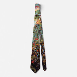 Vincent Van Gogh - Field With Poppies Fine Art Neck Tie