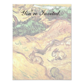 Vincent Van Gogh - Field With Two Rabbits Fine Art Card