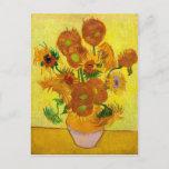 "Vincent Van Gogh Fifteen Sunflowers In a Vase Art Postcard<br><div class=""desc"">Vincent Van Gogh Fifteen Sunflowers In a Vase Art Postcard</div>"