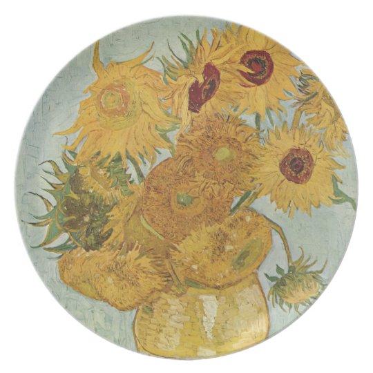 Vincent Van Gogh Porcelain Dessert Plate Sunflowers