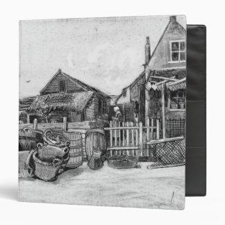 Vincent van Gogh | Fish drying barn, Scheveningen 3 Ring Binder