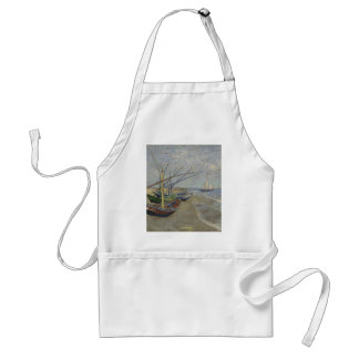 Vincent Van Gogh - Fishing Boats on Saintes Maries Adult Apron