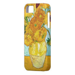 Vincent van Gogh - florero con 12 girasoles iPhone iPhone 5 Coberturas