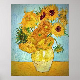 Vincent van Gogh - florero con 12 girasoles Poster