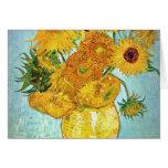 Vincent van Gogh - florero con 12 girasoles Felicitacion