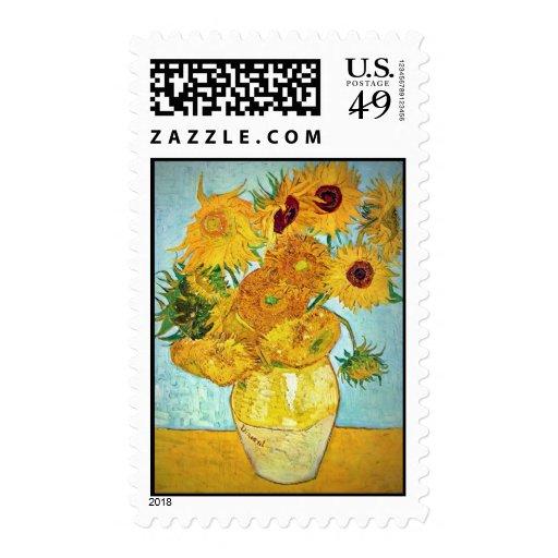 Vincent van Gogh - florero con el sello de 12 gira