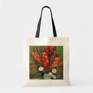 Vincent van Gogh - florero con los gladiolos rojos Bolsa