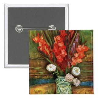 Vincent van Gogh - florero con los gladiolos rojos Pins