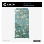 Vincent van Gogh, flores de la almendra Calcomanía Para El iPhone 4S