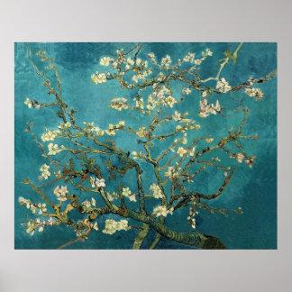 Vincent van Gogh - flores florecientes del árbol d Posters