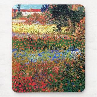 Vincent Van Gogh - Flowering Garden Fine Art Mouse Pad