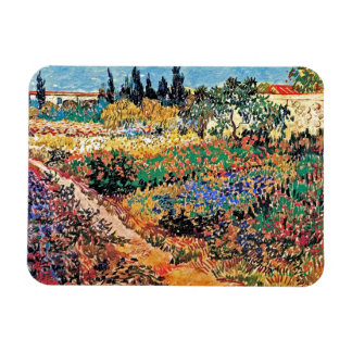 Vincent Van Gogh - Flowering Garden With Path Magnet