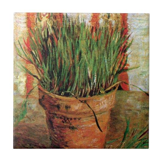 Vincent Van Gogh - Flowerpot With Chives Tile