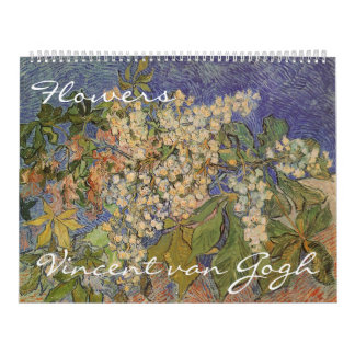 Vincent van Gogh Flowers, Post Impressionism Art Calendar